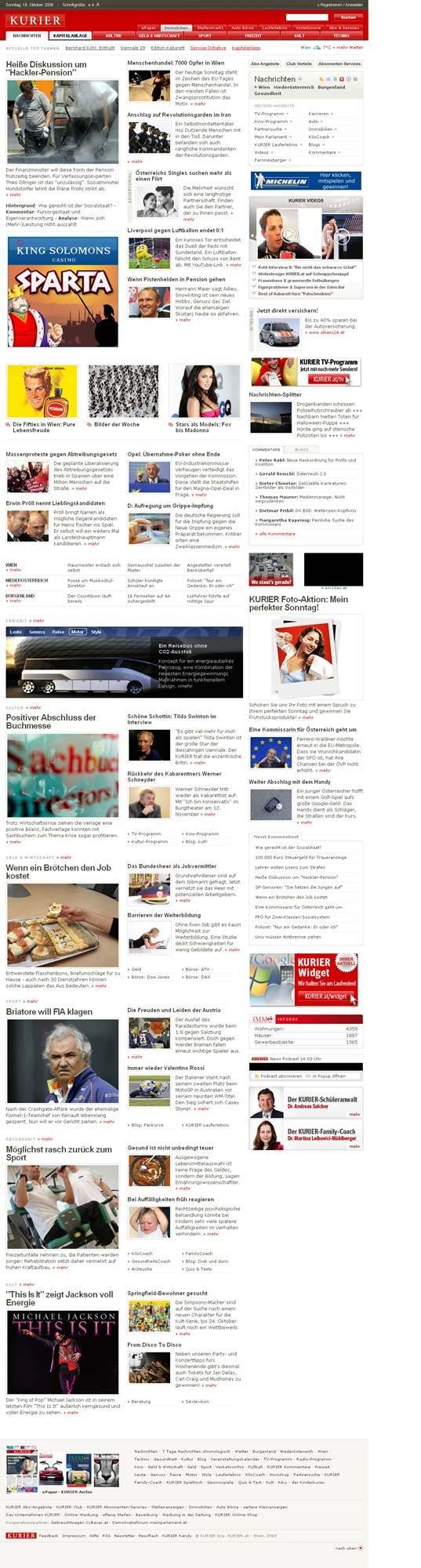 Nachrichten  kurier.at