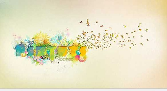 Dynamic Recessed Watercolor Typography in Photoshop - PSDTUTS