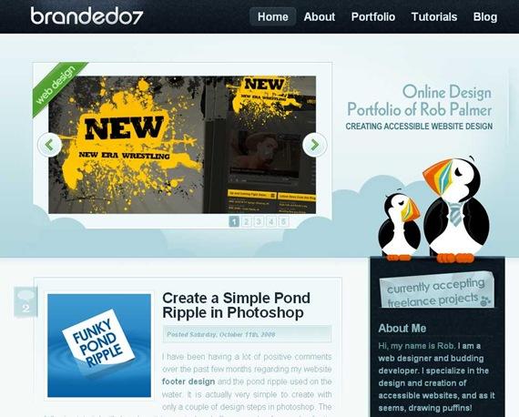 Online web design portfolio of Rob Palmer · Creating accessible website design · Branded07