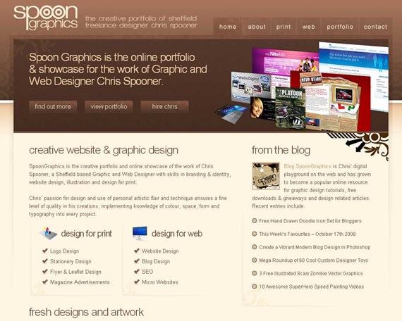 SpoonGraphics - Portfolio of Freelance Designer Chris Spooner
