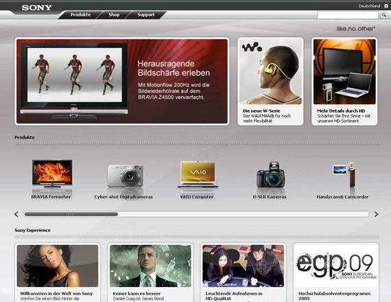 Kameras, HD-TV, Blu-ray, mp3-Player, Notebooks - Sony