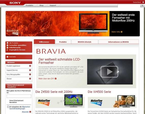 Sony- BRAVIA LCD-TVs- 200Hz und Full HD - Sony