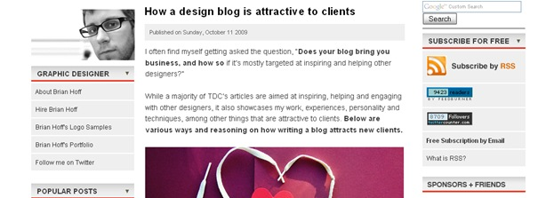 How a design blog is attractive to clients
