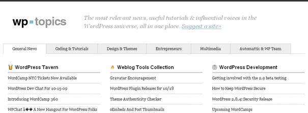 WP Topics  The Best WordPress News and Tutorials, All in One Place