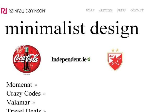 Minimalist Web Design - Rainfall Daffinson