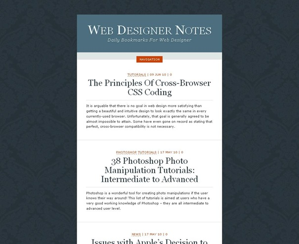 Web Designer Notes