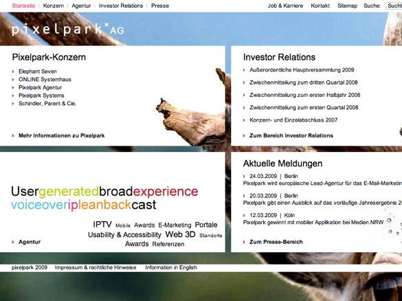 Pixelpark - Website der Pixelpark AG (20090425).jpg